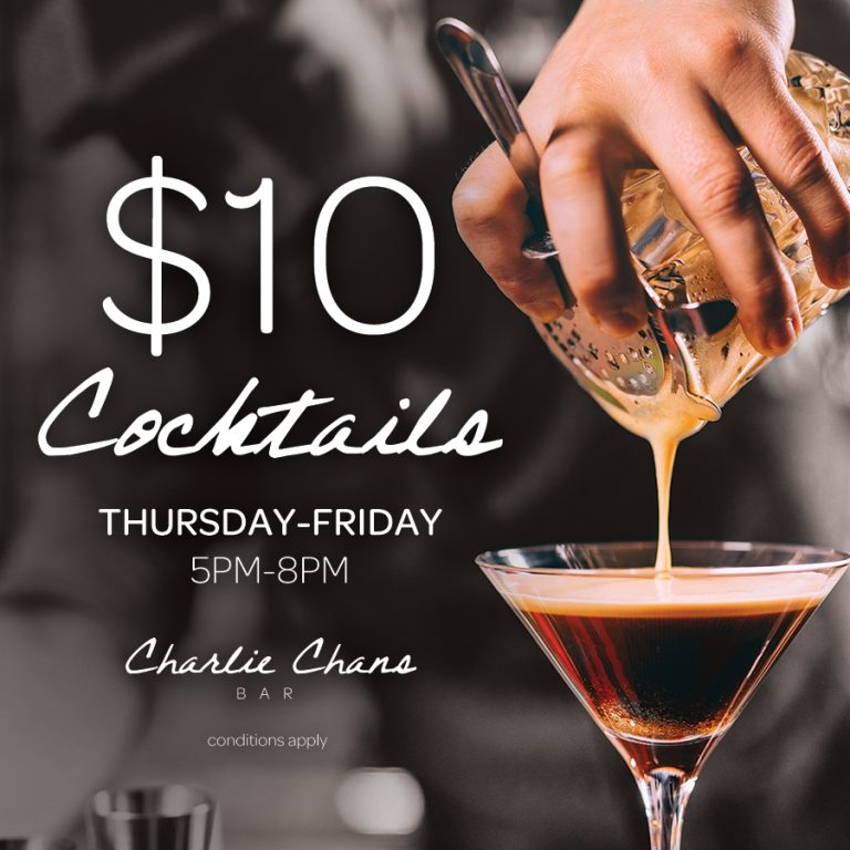 Cocktail Specials | What's On | Charlie Chans