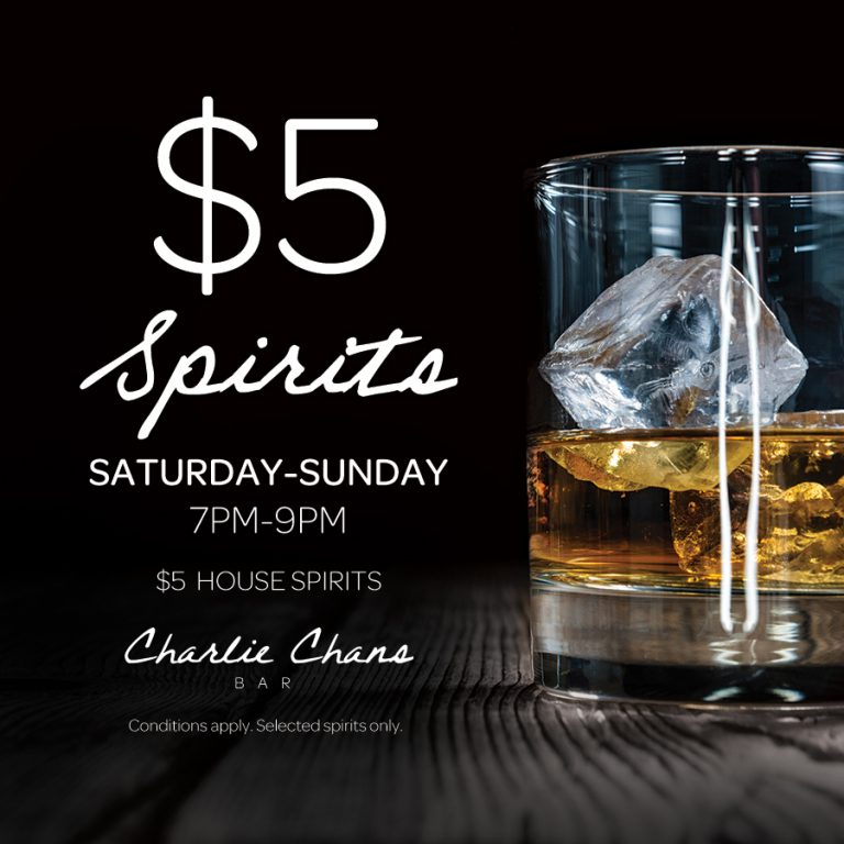 Weekend Spirit Specials | What's On | Charlie Chans