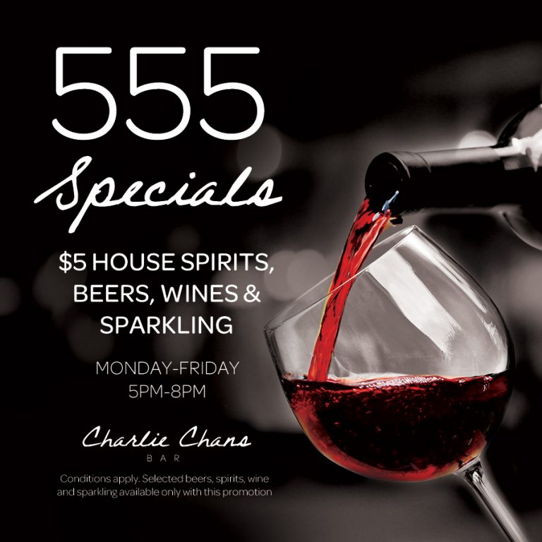 Alcohol Specials | What's On | Charlie Chans