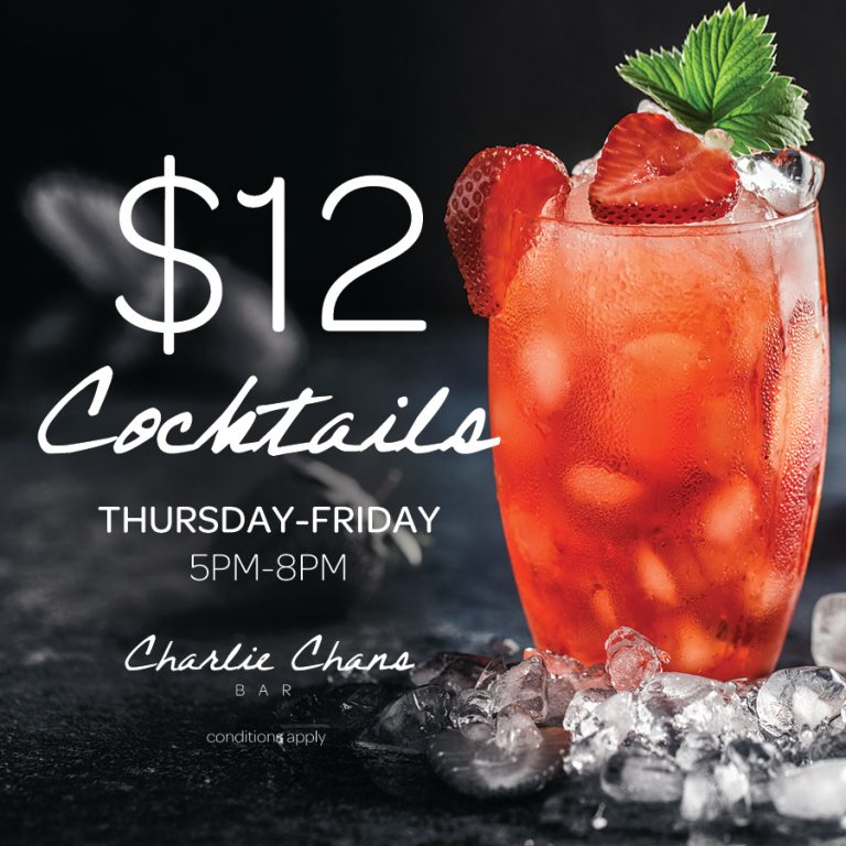 Weekly Cocktail Special | Charlie Chans